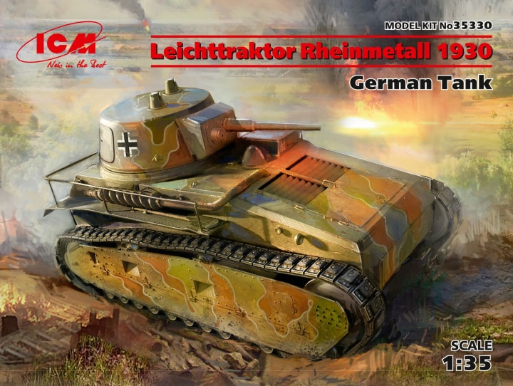 ICM 35330 Leichttraktor Rheinmetall 1930 German Tank