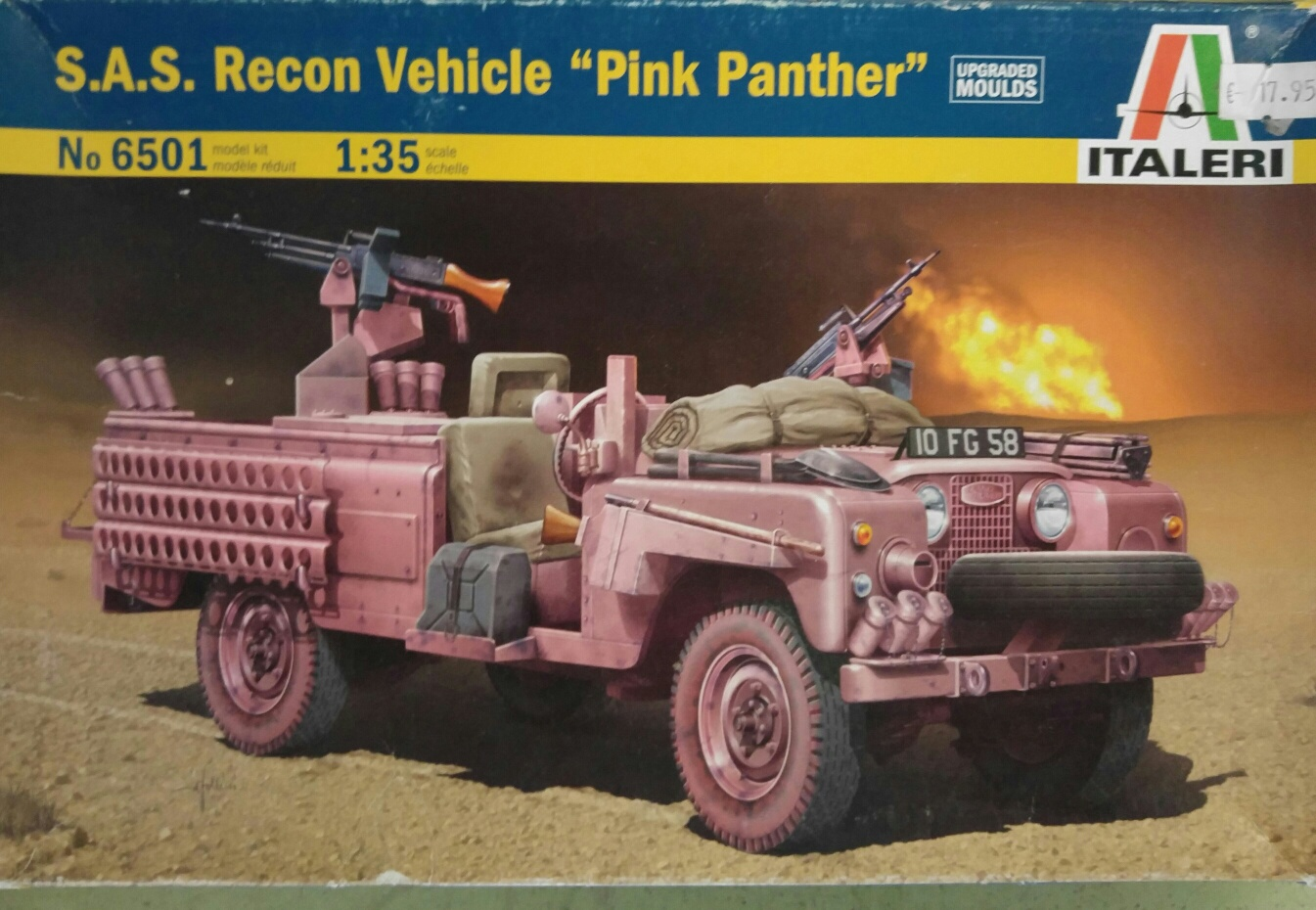 "Italeri 6501 S.A.S. Recon Vehicle ""Pink Panther"""