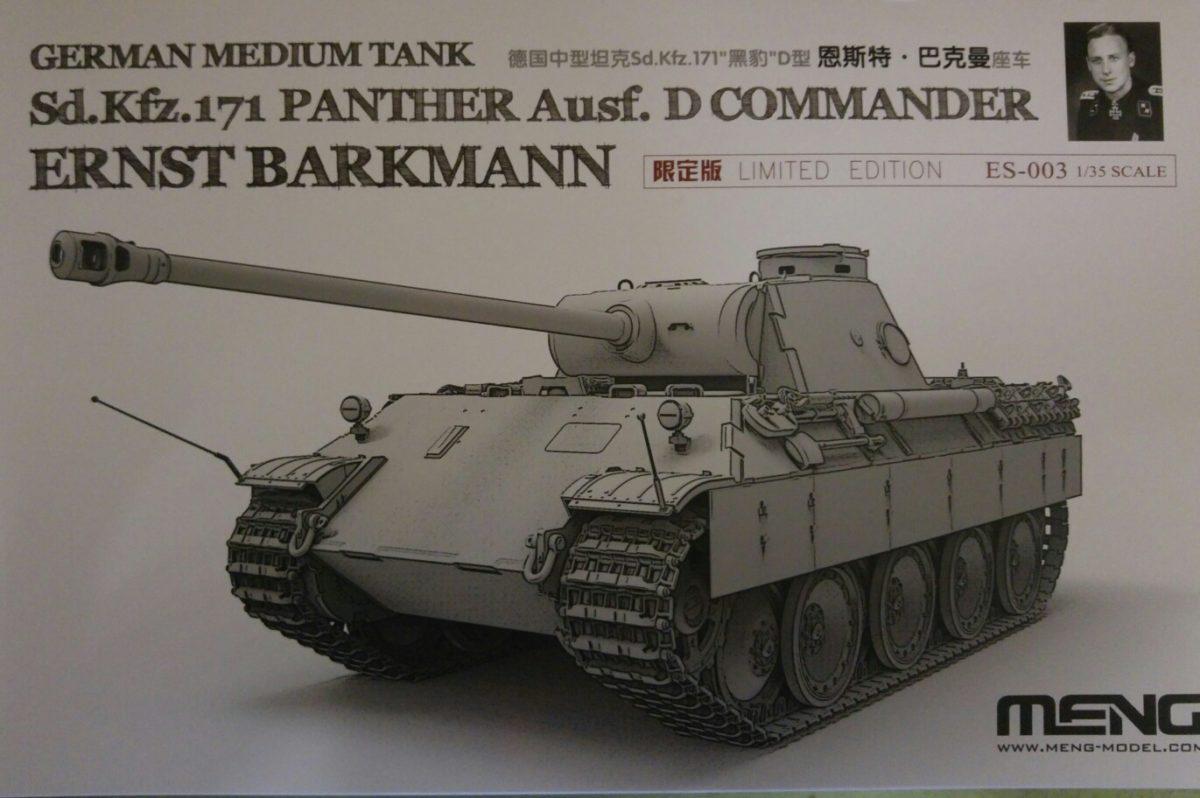 Meng ES-003 Panther Ausf. D Commander Ernst Barkmann Limited Edition