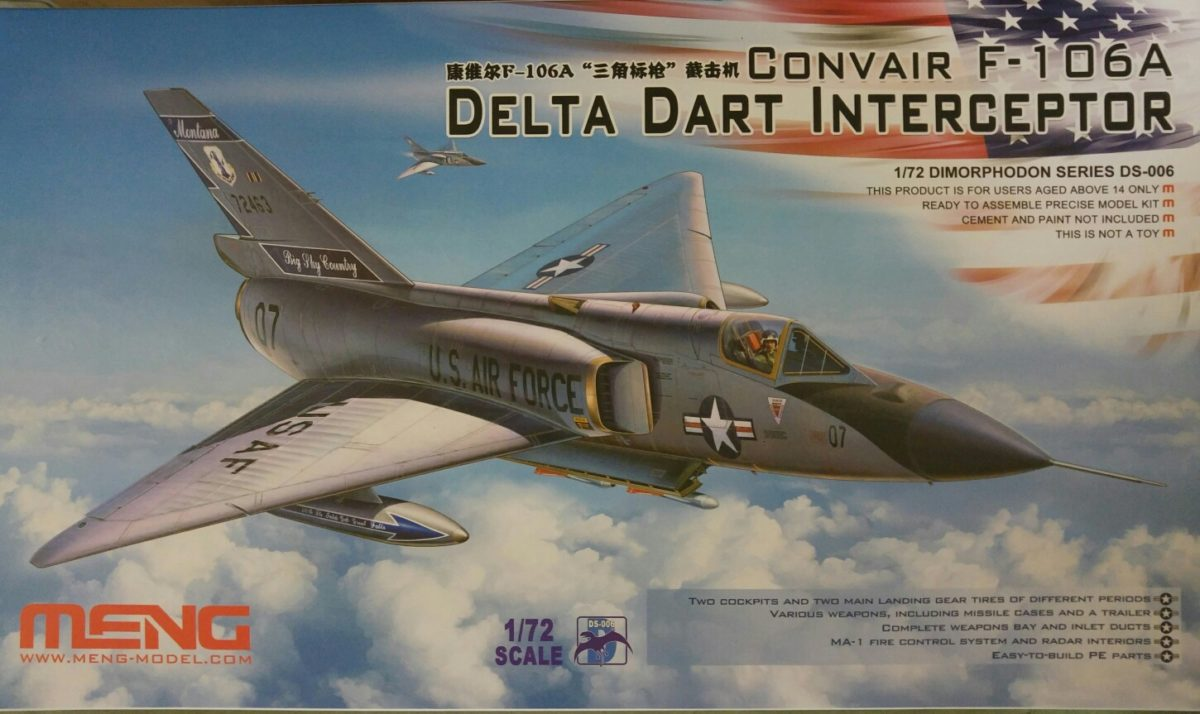 Meng DS-006 Convair F-106A Delta Dart Interceptor