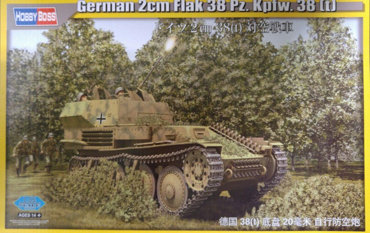 Hobby Boss 80140 German 2cm Flak 38 Pz.Kpfw. 38 (t)