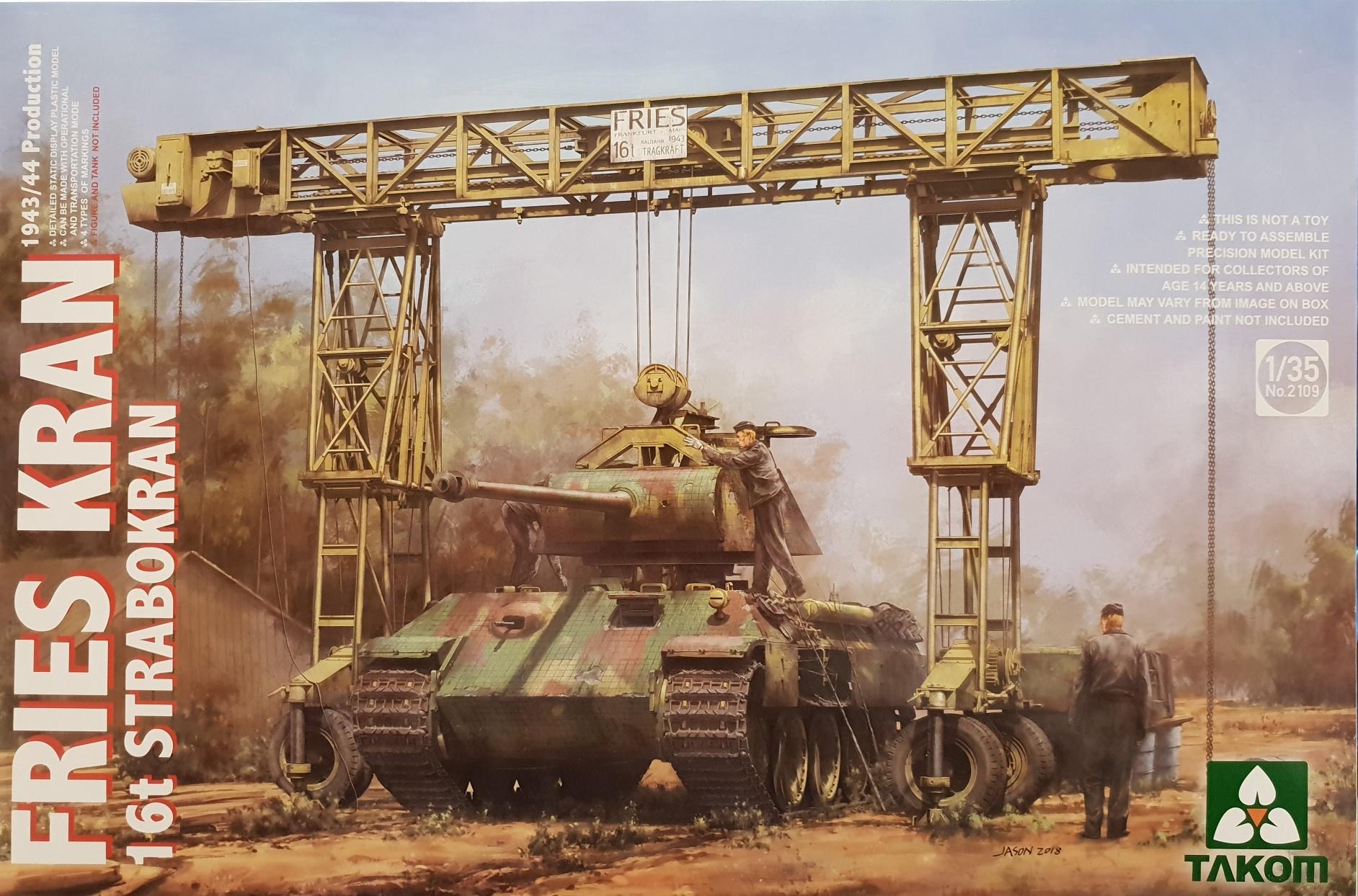Takom 2109 Fries Kran 16t Strabokran 1943/44 production