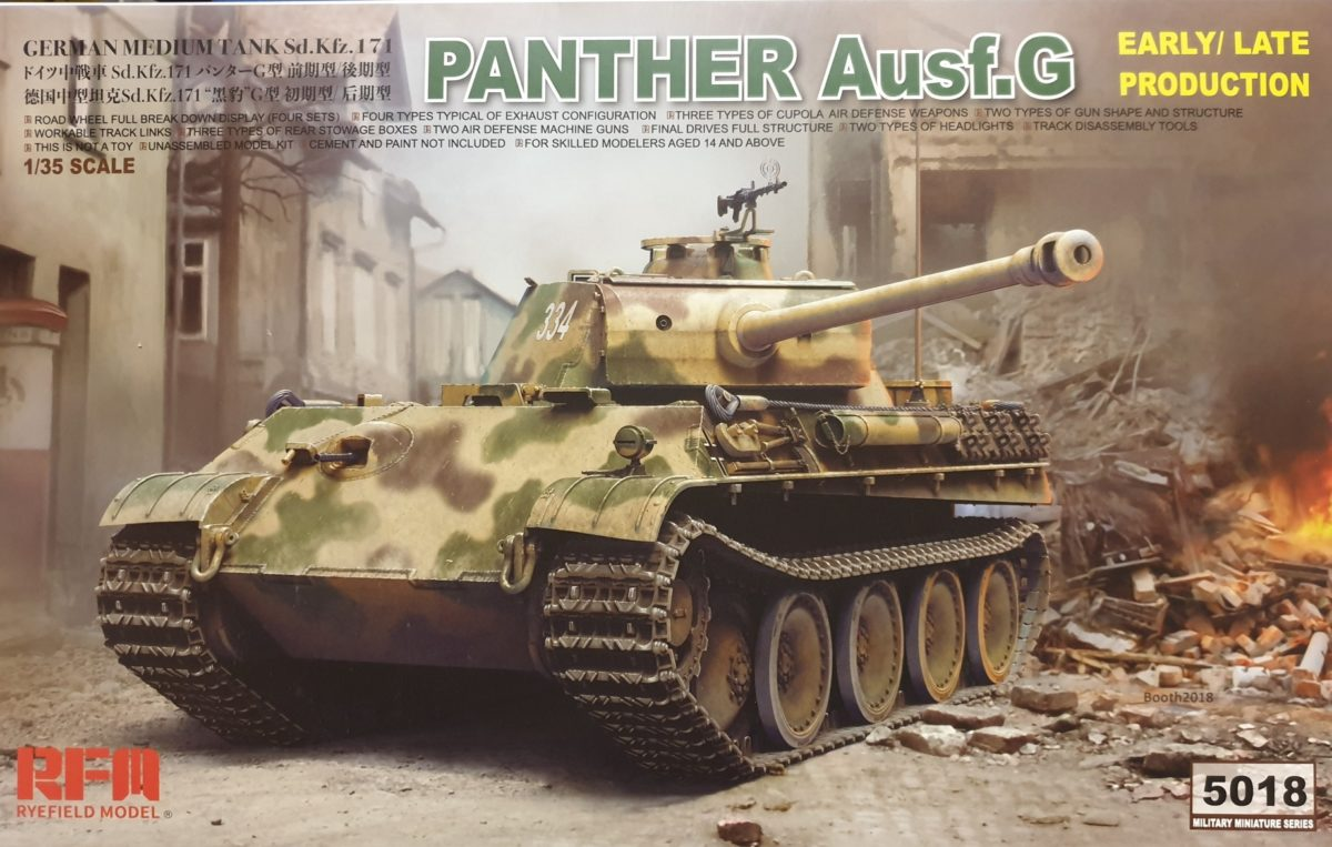 Rye Field Model 5018 Panther Ausf.G Early / Late Production