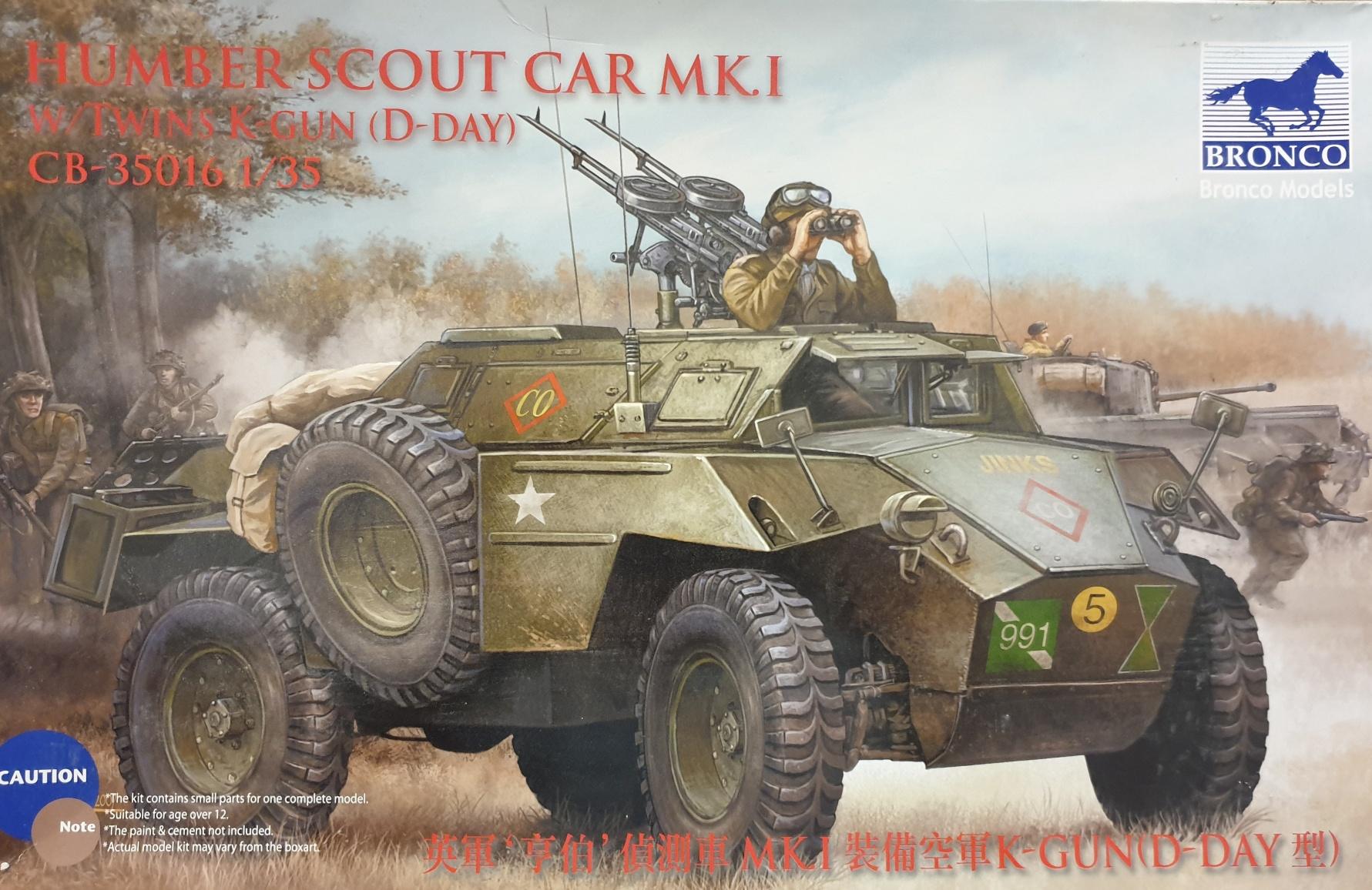 Bronco CB-35016 Humber Scout Car MKI w/ Twins K-Gun (D-Day)