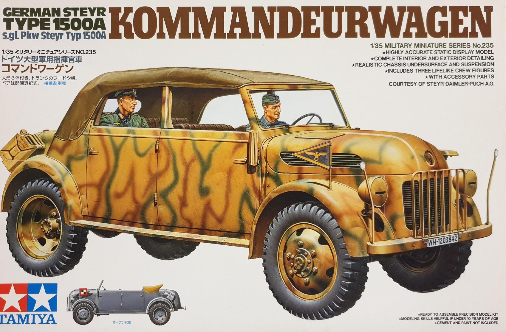 Tamiya 35235 German Steyr 1500A Kommandeurwagen
