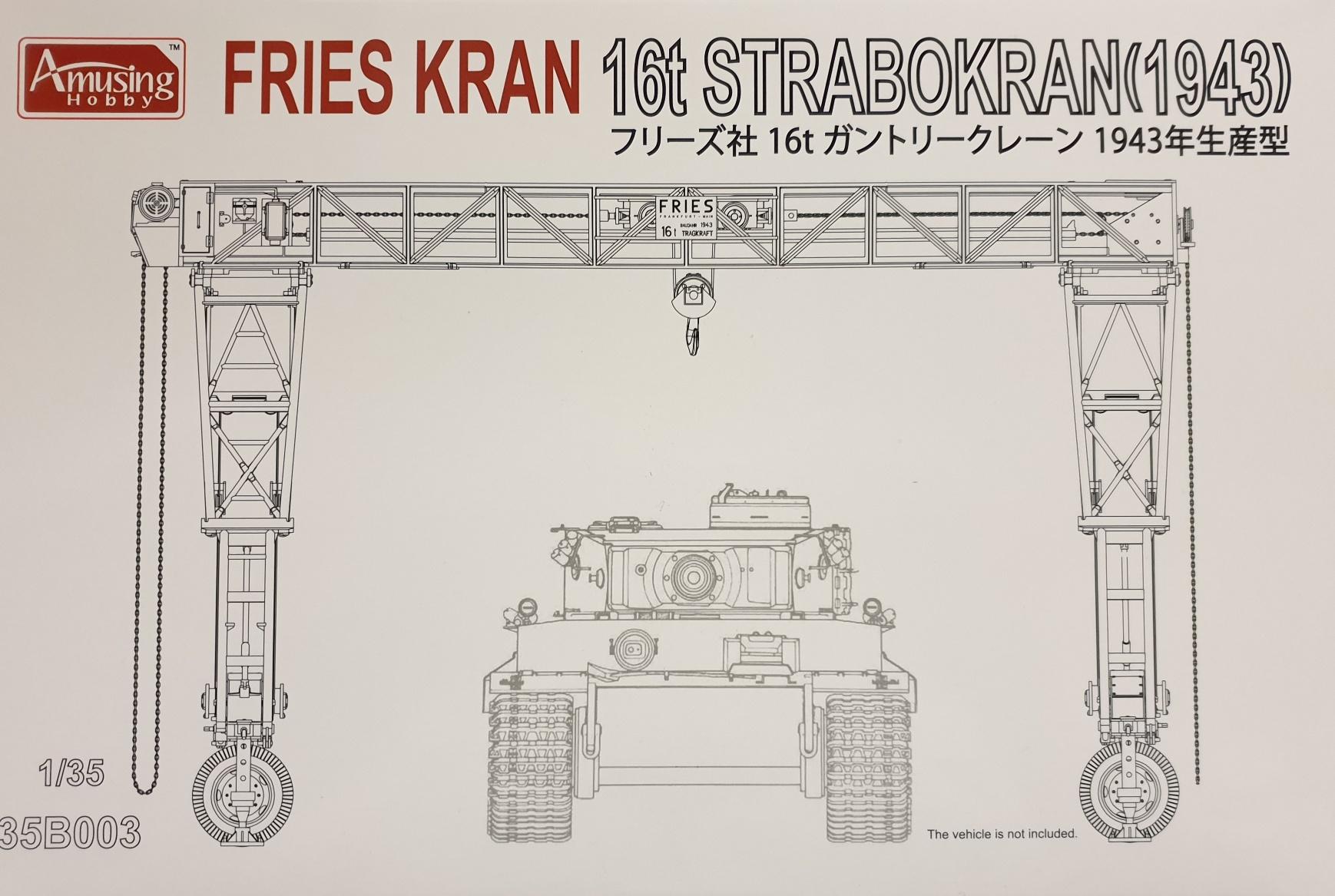 Amusing Hobby 35B003 Fries Kran 16t Strabokran (1943)