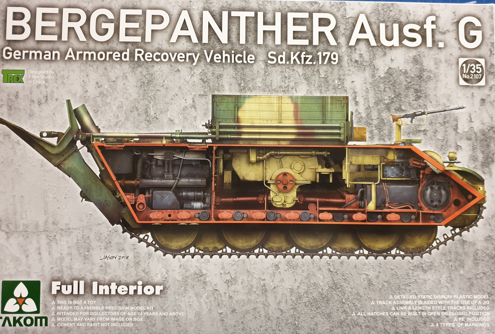 Takom 2107 Bergepanther Ausf. G Sd.Kfz. 179