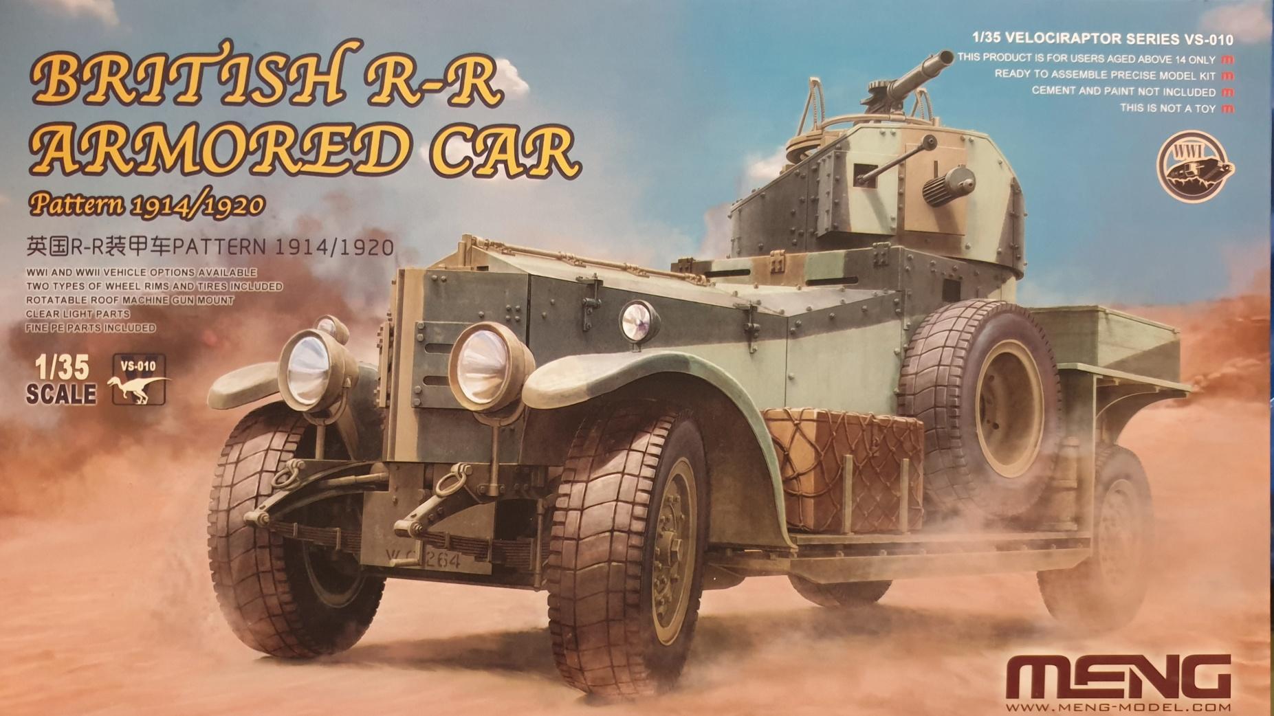 Meng VS-010 British R-R Armored Car Pattern 1914/1029