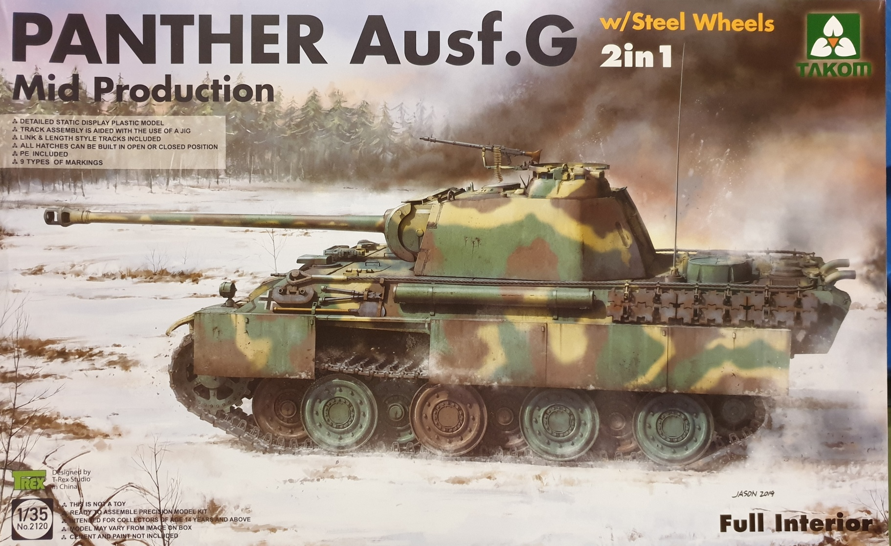 03 Takom 2120 Panther Ausf.G Mid Production w/Steel Wheels 2 in 1