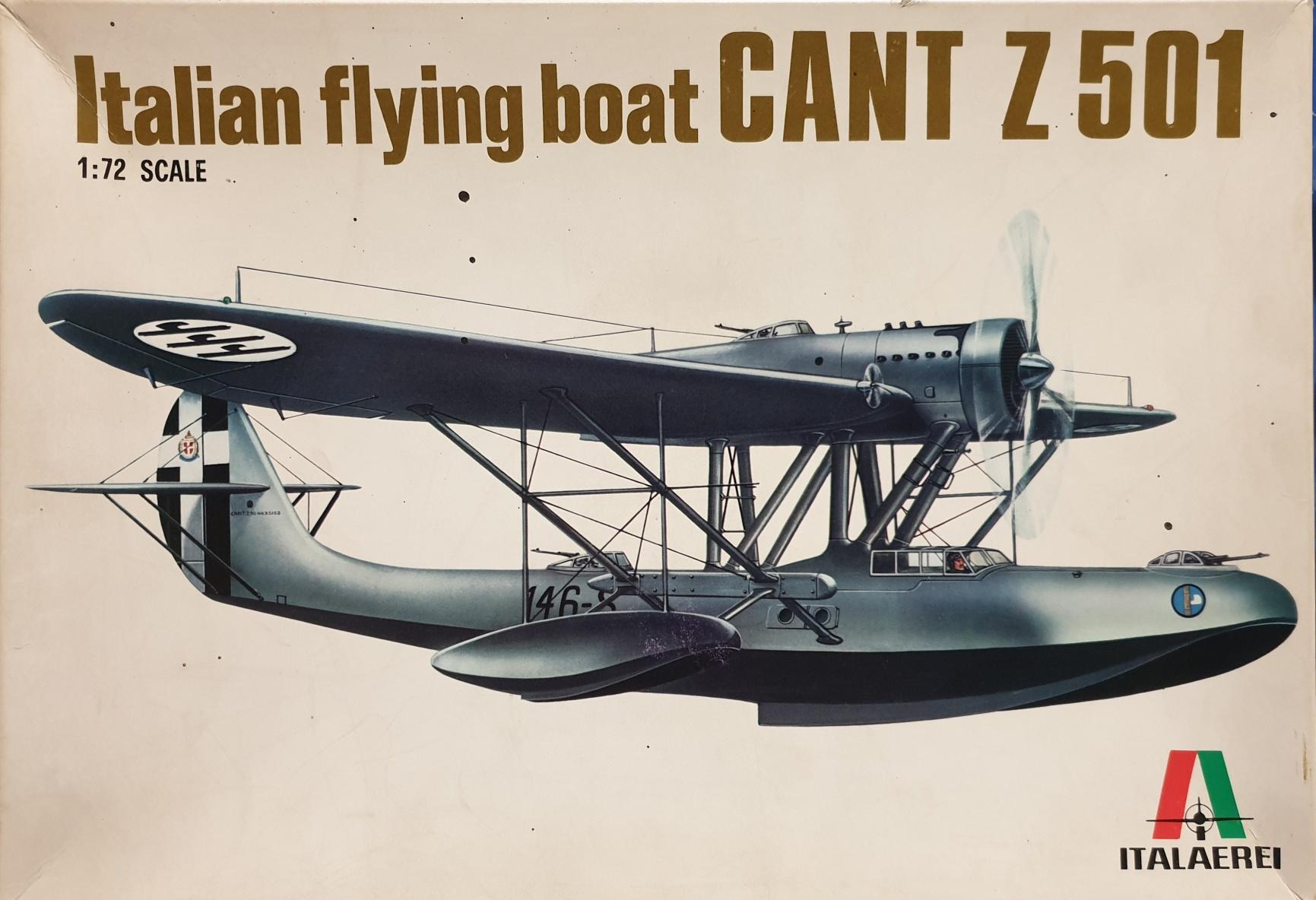 4 Italeri 112 Italian Flying Boat CANT Z 501