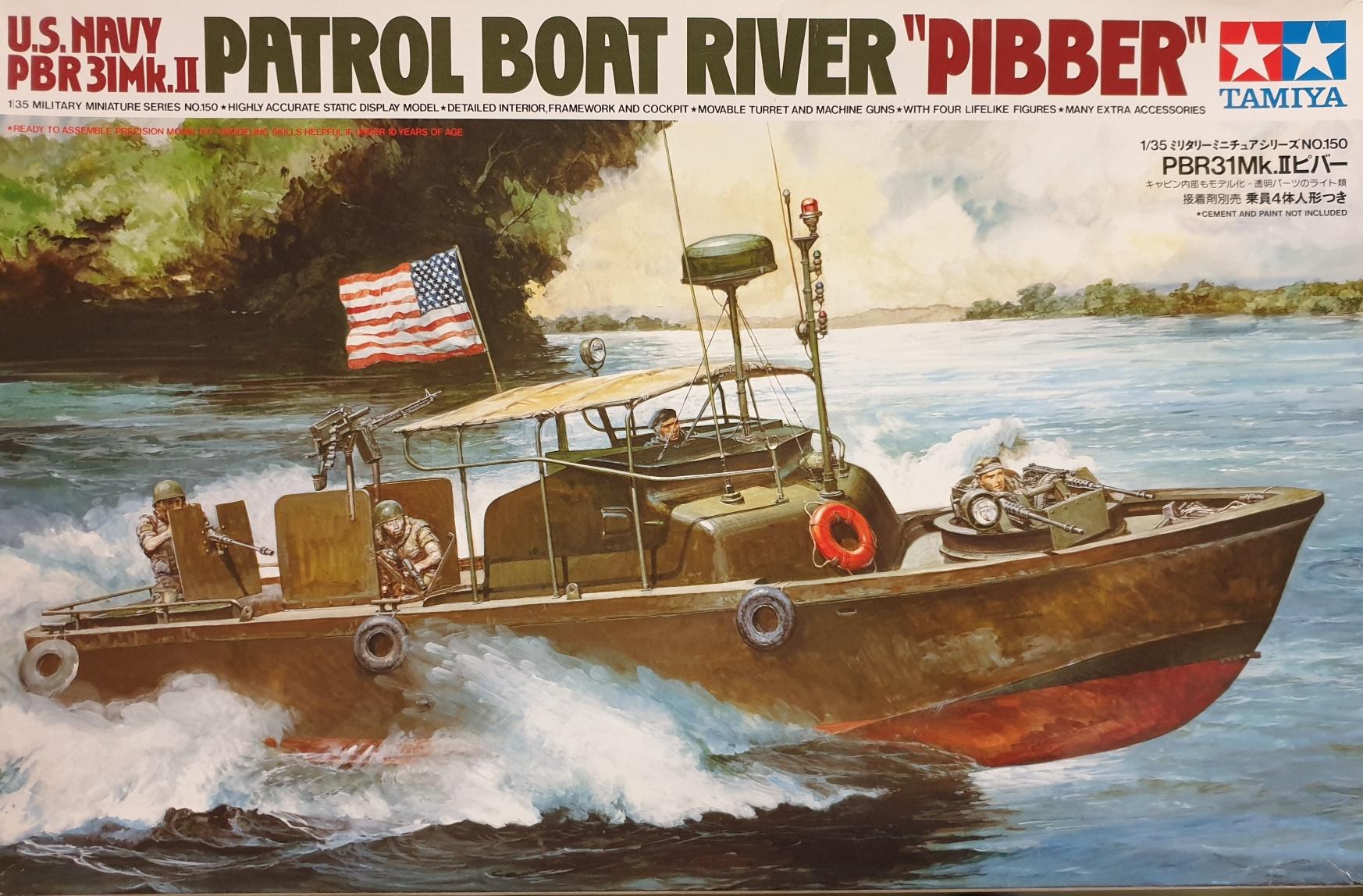 "Tamiya 35150 U.S. Navy PBR 31Mk.II Patrol Boat River ""Pibber"""