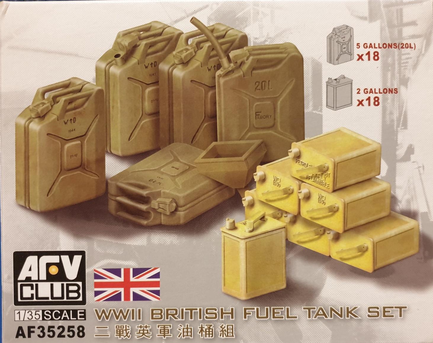 AFV Club AF 35258 WWII British Fuel Tank Set