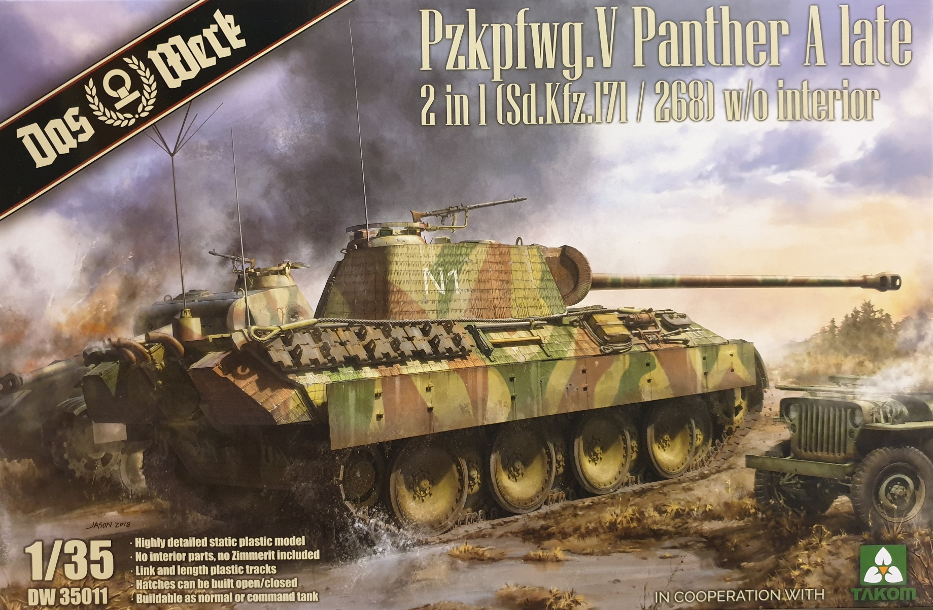 Das Werk DW35011 Pzkpfwg. V Panther A late 2 in 1