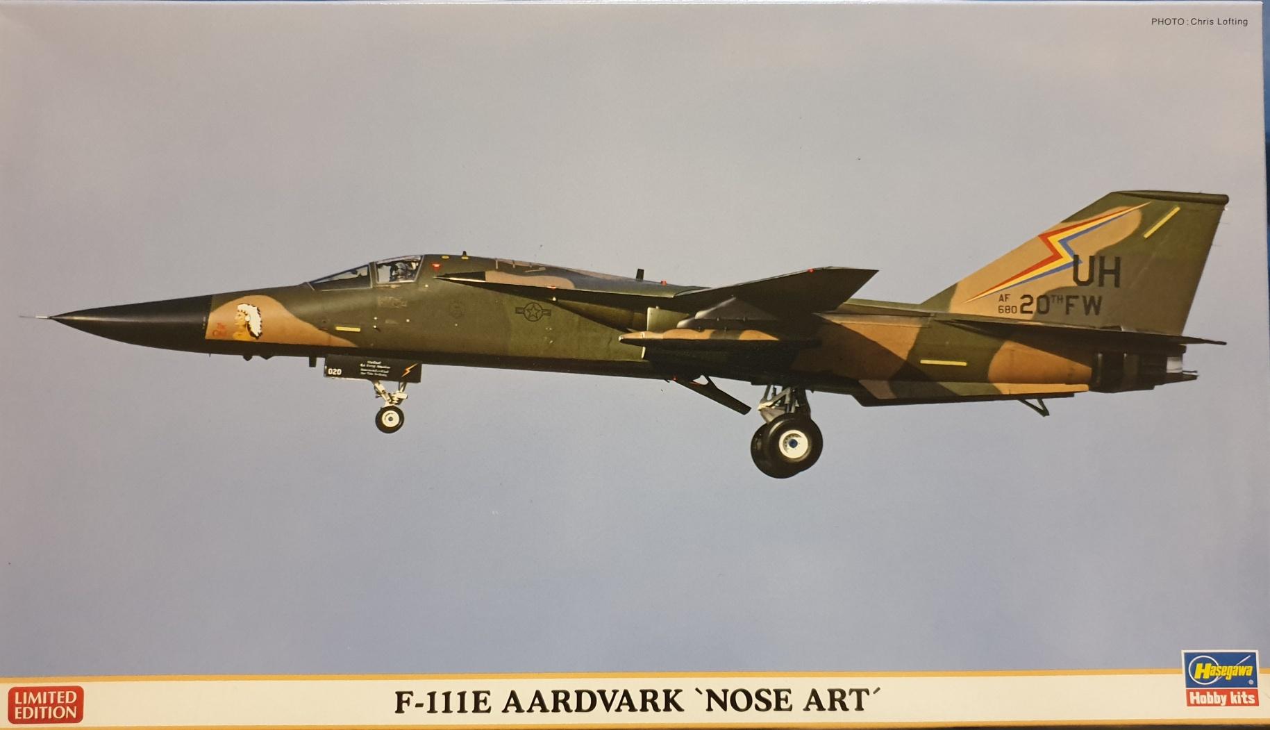 "Hasegawa 02060 F111E Aardvark ""Nose Art"""