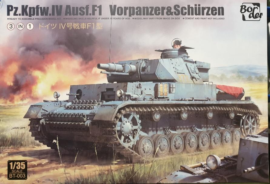 Border Model BT-003 Pz.Kpfw. IV Ausf. F1 Vorpanzer & Schürzen