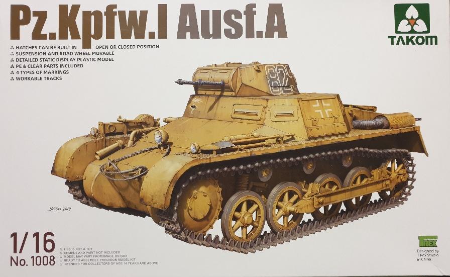 Takom 1008 Pz.Kpfw. I Ausf. A 1/16