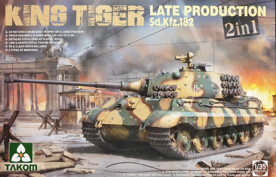 Takom 2130 King Tiger Late Production 2 in 1