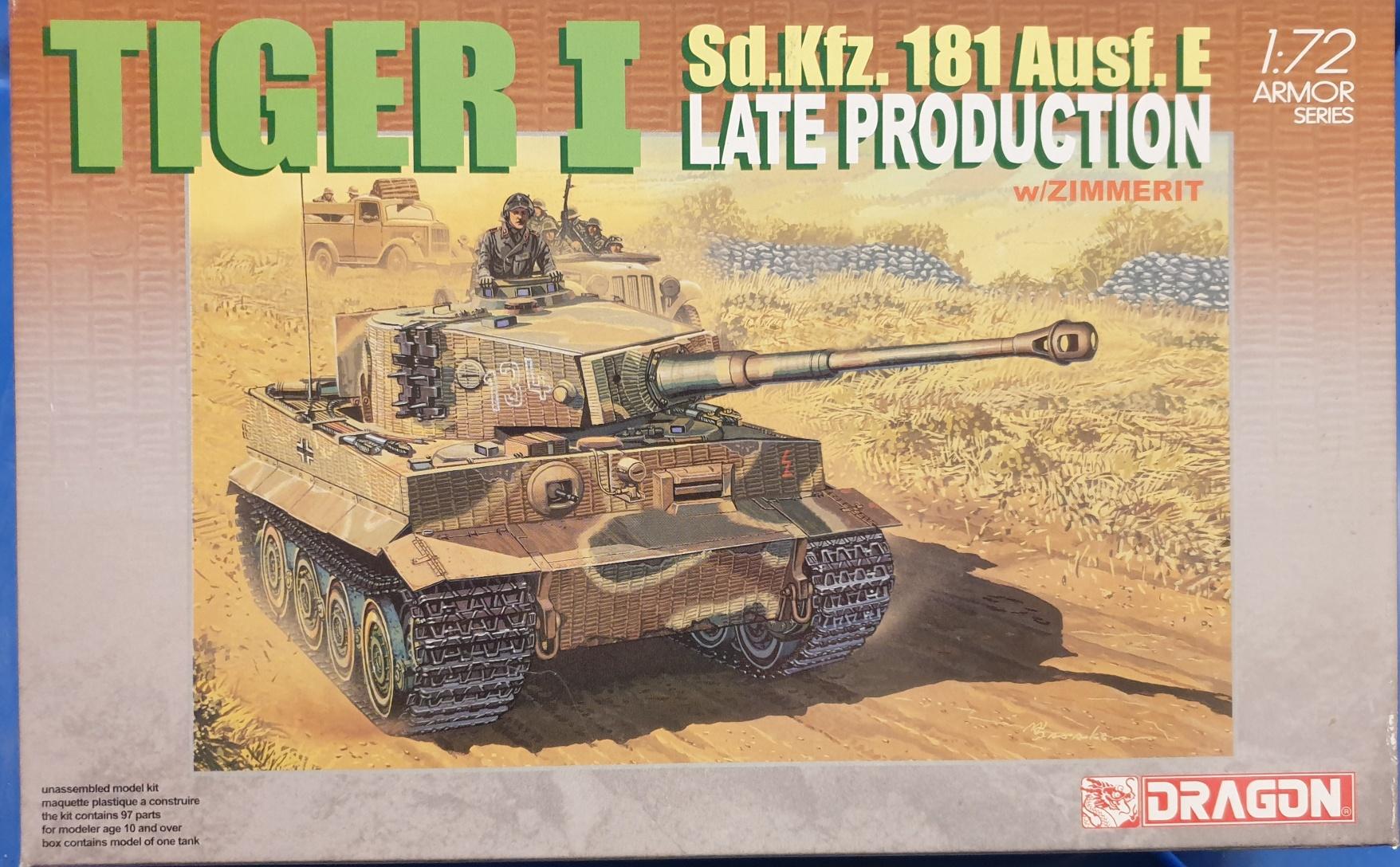 3 Dragon 7203 Tiger I Sd.Kfz. 181 Ausf. E Late Prod. 1/72
