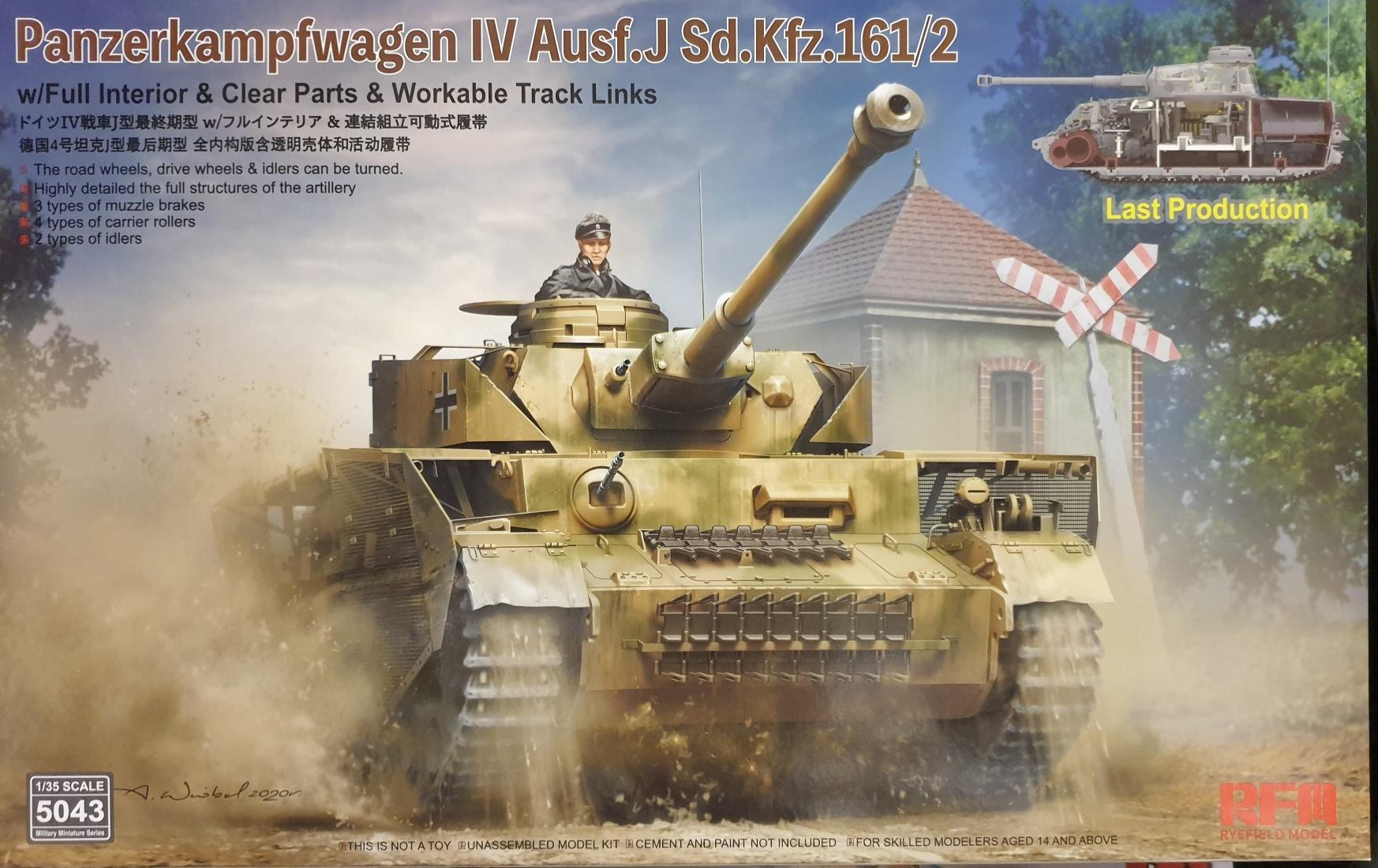 02 Rye Field Model 5043 Panzerkampfwagen IV Ausf. J Sd.Kfz. 161/2 w/ full interior 1/35