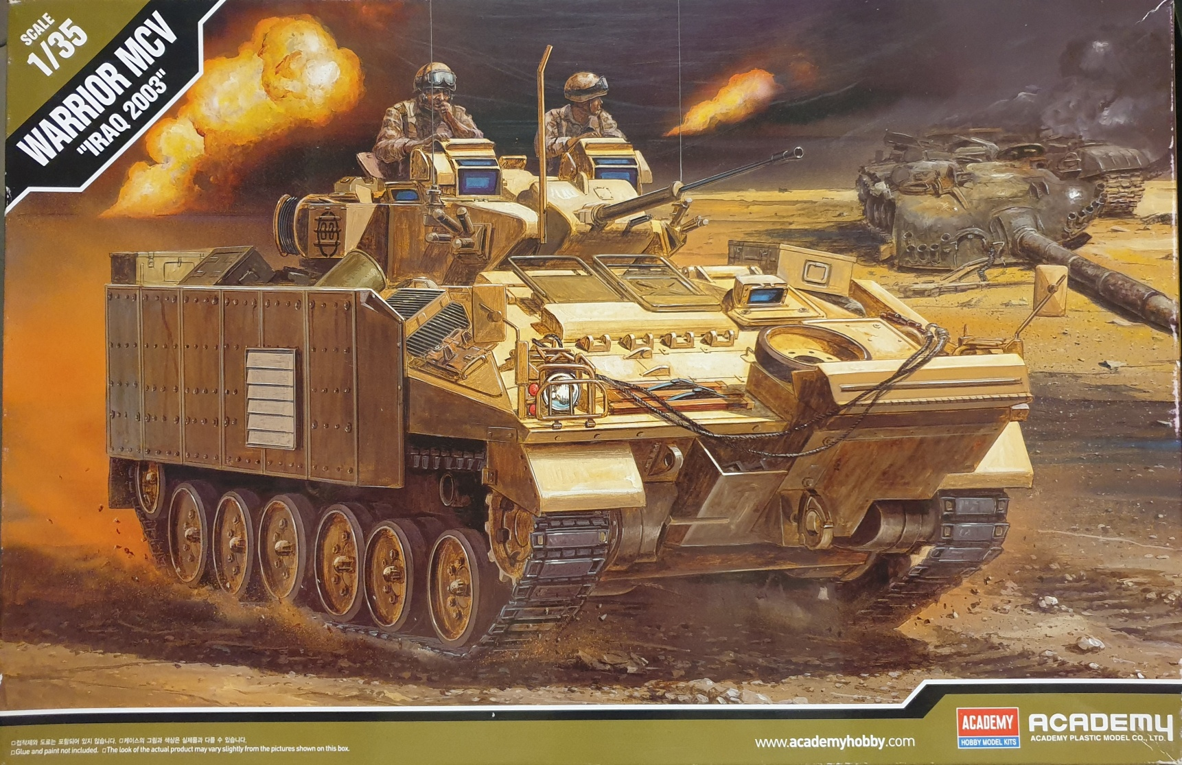 """Academy 13201 Warrior MCV """"Iraq 2003"""" 1/35"""