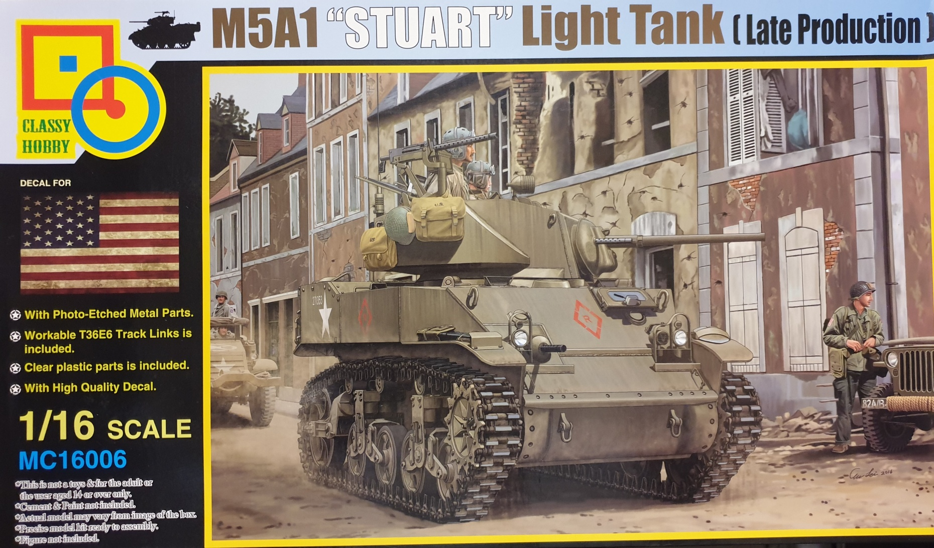 "Classy Hobby MC16006 M5A1 ""Stuart"" Light Tank (Late Production) 1/16"