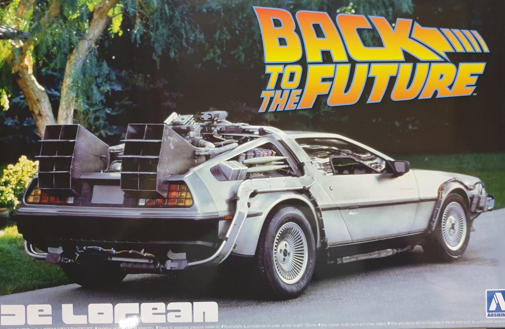 Aoshima BT01 Back to the Future De Lorean 1/24