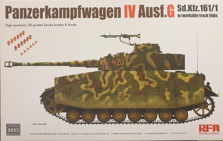 Rye Field Model 5053 Panzerkampfwagen IV Ausf. G w/ Workable Tracks 1/35