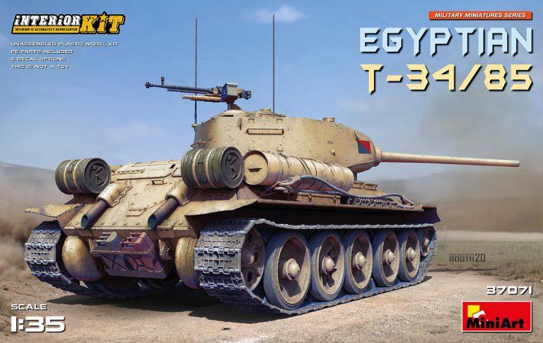 04 MiniArt 37071 Egyptian T-34 / 85 w/ Interior 1/35